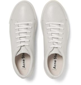 Men Sneakers Sale - Acne Studios Adrian Grained-Leather Sneakers Mens White - Acne Studios Men Shoes Mens Shoes 5672_2_LRG